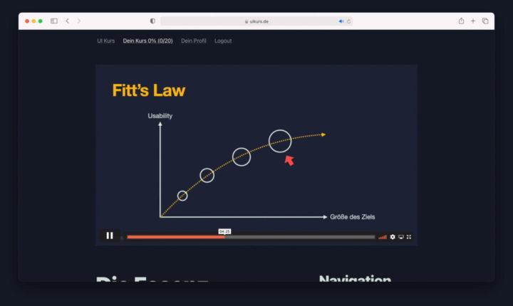 """Fitt's Law in """"Effizienz"""""""